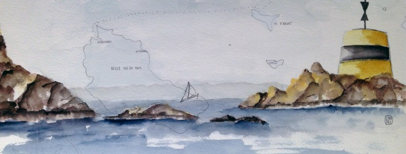 Mouillage devant l'Ile d'Houat