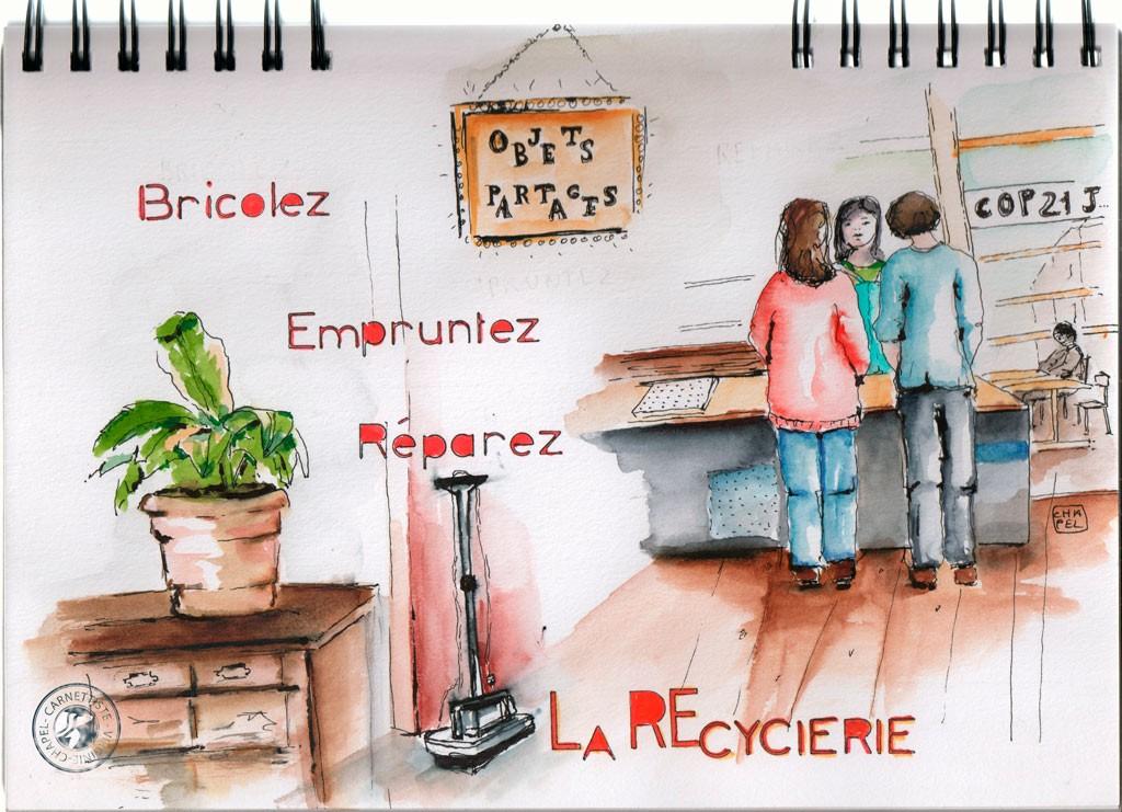 Lieu atypique à Paris La recyclerie