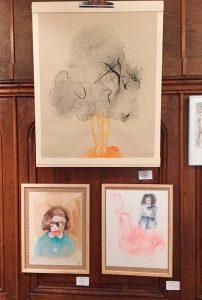Exposition à la chapelle de Condrieu Gravure et aquarelle