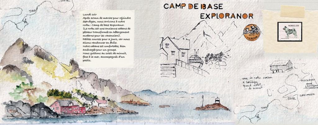 Carnet de voyage en dessin aux iles Lofoten
