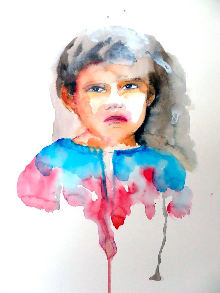 Aquarelle d'enfant